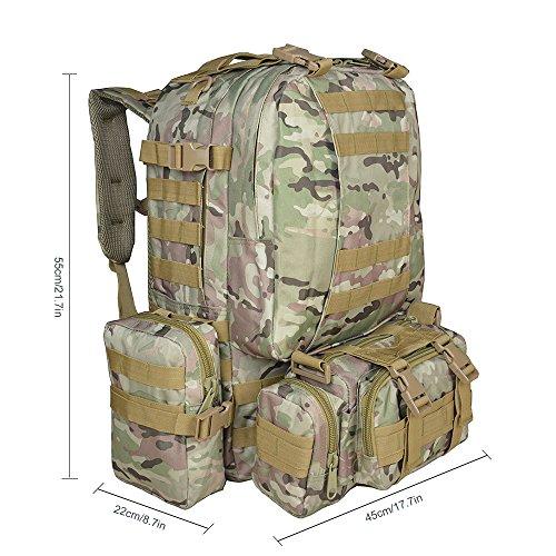 Imagen de  táctica militar versión actualizada, topqsc  de moda 55l múltiples colores para senderismo montañismo marcha macuto al aire libre bolsa de viaje de calidad alta cp  alternativa