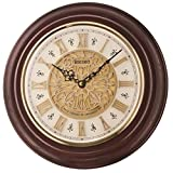 Seiko Wall Clock (32 cm x 32 cm x 5.8 cm, Brown, QXM342BN)