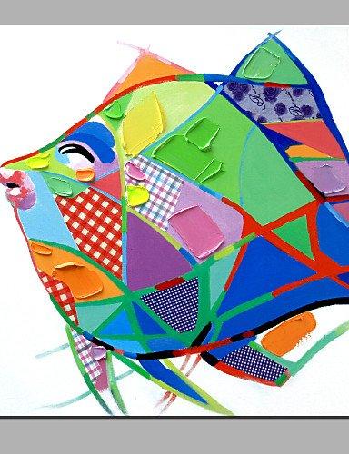 Preisvergleich Produktbild OFLADYH ® einzigen modernen abstrakten reinen Hand zeichnen bereit,  die Fischöl dekorative Malerei zu hängen ,  l