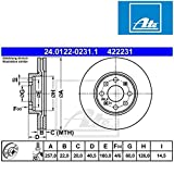 ATE 24012202311 Bremsscheibe - (Paar)