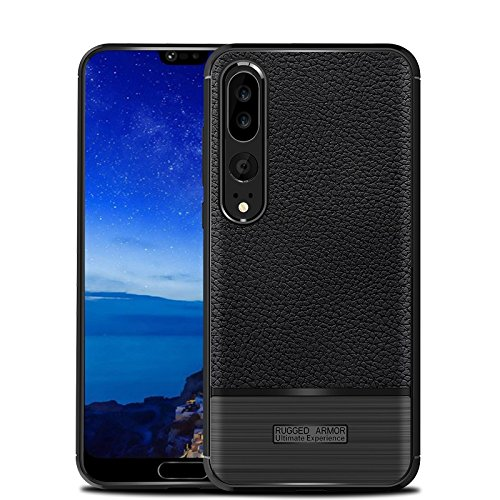Huawei P20 Pro Coque, Cruzerlite Flexible Slim Case with Leather Texture Grip and Shock Absorption for Huawei P20 Pro