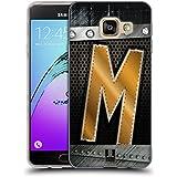 Head Case Designs M Initiales Étui Coque en Gel molle pour Samsung Galaxy A3 (2016)