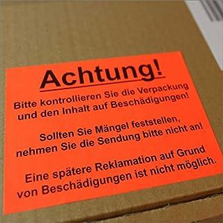 500 Versand Aufkleber 7,4 x 10,5 cm Warnzeichen, Schadenaufkleber Verpackung