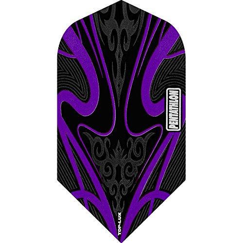 PENTATHLON TDP Lux Dart Flights, Black Series–Slim, 5Sets (15) lila–Inklusive Darts Ecke gebogen Kugelschreiber