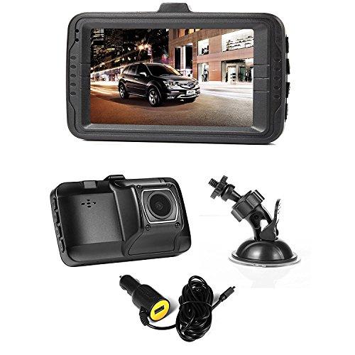 NexGadget FHD 1080P Auto kamera,3.0 Zoll Monitor,Dashcam,Auto DVR mit G-Sensor,Loop-Zyklus Aufnahme carDVR,Camcorder mit Nachtsicht,Auto-Ladegerät mit USB-Anschluss