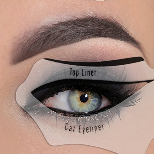 Eyeliner Stencil - Eyeshadow Guide, Smokey Cat, Quick Eye Makeup Tool Set