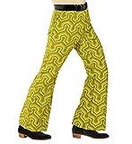 shoperama - Pantaloni da uomo anni '70, stile retrò, con e senza motivo