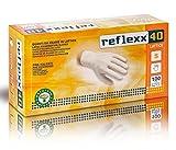 Reflexx R40, Gants en Latex avec poudre, L, Bianco, 100