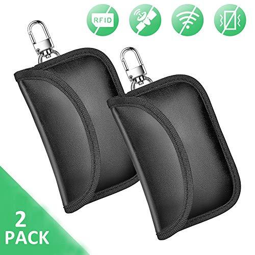 Mini Autoschlüssel Tasche 2 Pack Keyless Go Schutz Blocker autoschlüssel RFID Funkschlüssel Abschirmung Schlüsseltasche Schlüsseletui Schlüsselmäppchen Car Key Safe