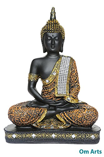 Om Arts Sitting Buddha Idol Statue Showpiece ORB
