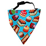 #9: Dessert Factory! Dog Bandana by LANA, quirky & cool dog fashion accessory with easy to use adjustable strap