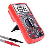 BEVA Multimeter, Digital Multimeters Multi Tester TRMS 6000 Counts Voltmeter Ammeter Non Contact AC/DC Voltage and Current, Frequency, Capacitance, Diode, Triode, Duty Cycle Tester with LCD Backlight