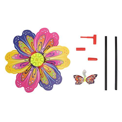Lamdoo 3D Schmetterling Blume Windmühle Wind Spinner Home Garden Yard Dekoration Kinder Spielzeug -