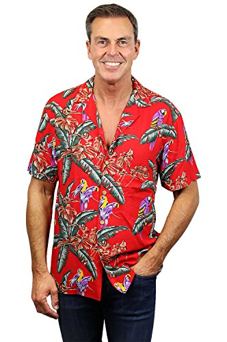 Original Tom Selleck Magnum, P.I. Hawaiihemd made in Hawaii! XS-4XL Red