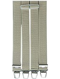 3,5cm Breit Hosenträger Wählbar aus 16 Farben und 8 Längen Deutsche Clips