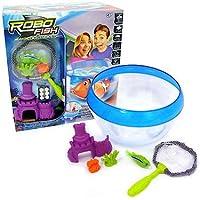 Robo Fish – Confezione Completa – Boccia + Pesce Robot + Castello + Retina + Coralli – Edizione Limitata