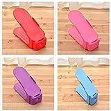 Mesigu Scatola di Scarpe Organizer per spazi per Scarpe a Doppio Strato (4 Pezzi) Scatola di Scarpe (Colore : T5)