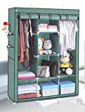 #5: Houzie 66Inch Portable Wardrobe Cabinet Collapsible Clothes Storage Rack Diy(Random Color)