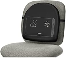 Fellowes Professional Series Heat and Sooth Back Support - Black