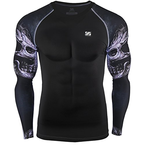 Zipravs Herren Damen Kompressionshirt Heat Gear Long Sleeve