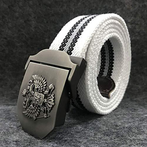 XIMENGYD Gürtel Gürtel Hochwertige Gürtel für Herren & Damen Patriot Jeans Gürtel E weißer Streifen - Patriot Denim