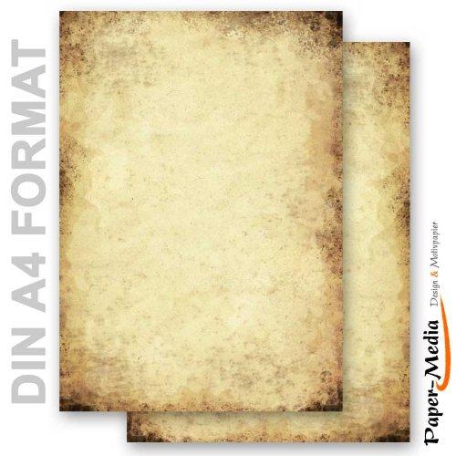 Papier à motif à lettres VIEUX PAPIER 20 feuille de papier DIN A4