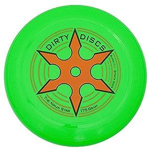 Dirty Disc Estrella Ninja en Lanzamiento de Disco del Disco Volador (Verde de neón)