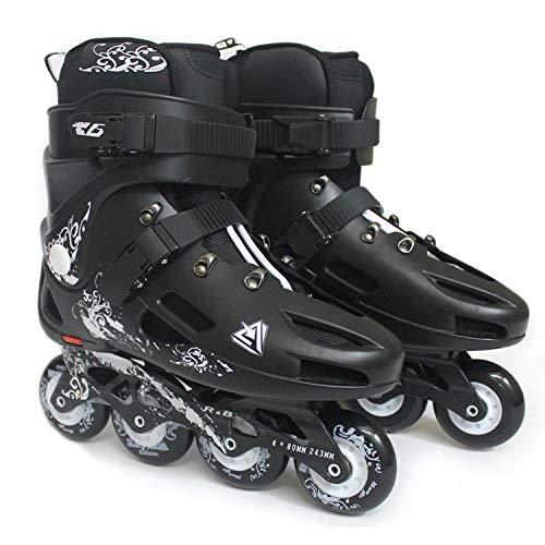 Skating Schuhe Einreihige Skates 38 Schwarz (Kitty-schuhe Erwachsene Für Hello)