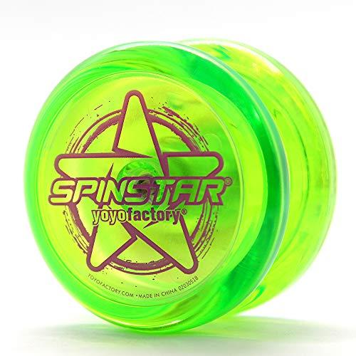 YoyoFactory SPINSTAR Yo-Yo - Vert (Idéal pour Les débutants, Jeu Yoyo Moderne , Freestyle Yoyoing Tricks, Ficelle Et Instructions Incluses)