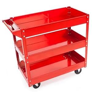 TecTake® 3 Etagen Werkstattwagen Werkzeugwagen Rollwagen Montagewagen Wagen Werkstatt
