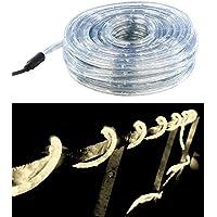 Lunartec Lichterschlauch: LED-Lichtschlauch Innen- & Außenbereich, 720 LEDs,20 m, warmweiß, IP44 (Leuchtschlauch)
