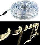 Lunartec Lichterschlauch: LED-Lichtschlauch Innen- & Außenbereich, 720 LEDs,20 m, warmweiß, IP44 (LED Schlauch Außen)