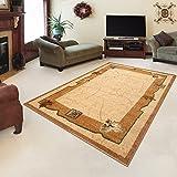 "Rug ROYAL Cream Modern Design Best Price High Quality Living Room S - XXL Classic Pattern 110 x 265 cm (3ft8"" x 8ft9"")"