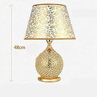 ZYCkeji Zart Glastischlampe, kreatives Goldmoderne geführte Schlafzimmer-Nachttischlampe-Heirat-Raum-Hochzeits-dekorative... preisvergleich bei billige-tabletten.eu