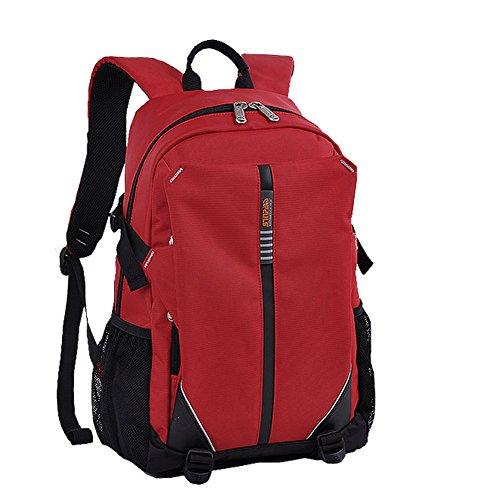 YAAGLE Rucksack Laptoptasche Sommer Schüler Schultasche Freizeit Lovers Schultertasche Reisetasche Gepäck-khaki(15zoll) rot(14zoll)