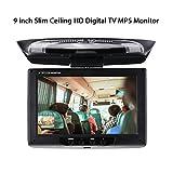Car Stereo Player MP5 con Pantalla de 9 Pulgadas Slim Ceiling HD Digital TV Monitor MP5 Flip Down Roof Mount Monitor de Audio