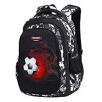 Asge School Bags for Boys Large Backpack for Teenage Girls Multi Pocket Travel Activity Back Packs Men Football Print Kids Rucksack Laptop Backpack 15.6 Inch