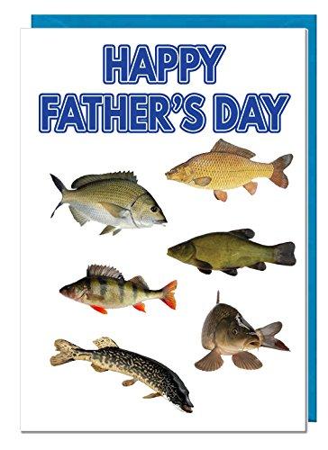 River Fisch/Fischerei-Vater 's Day Karte - Bait Fish Net