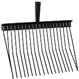 Waldhausen Bollengabel Metall, schwarz, schwarz