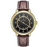KS Armbanduhren für Herren Edelstahl Luxus Automatische Mechanische Analog Lederband Uhr Braun KS379