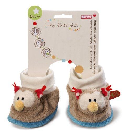 My first NICI Baby Schuhe Eule mit Rassel, Plüsch