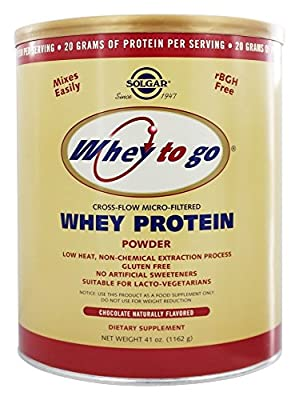Solgar 1162 g Whey To Go Natural Chocolate Flavour Whey Protein Powder from Solgar
