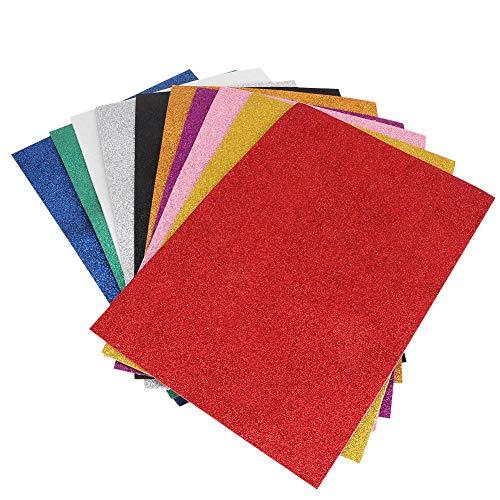 1 stücke EVA Schwamm Papierbögen Bunte Pailletten Dicken Schaum Papier mit Kleber Schwamm Blatt für Kinder Handgemachte DIY Handwerk -