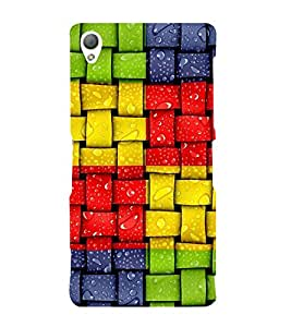 Colourful Weave Pattern 3D Hard Polycarbonate Designer Back Case Cover for Sony Xperia Z3 :: Sony Xperia Z3 Dual :: Sony Xperia Z3 D6633