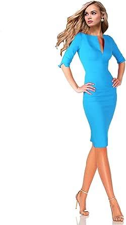 Jake*s Collection Etuikleid Einsatz in Kontrastfarbe Damen Kleid Rot Größe 32 34