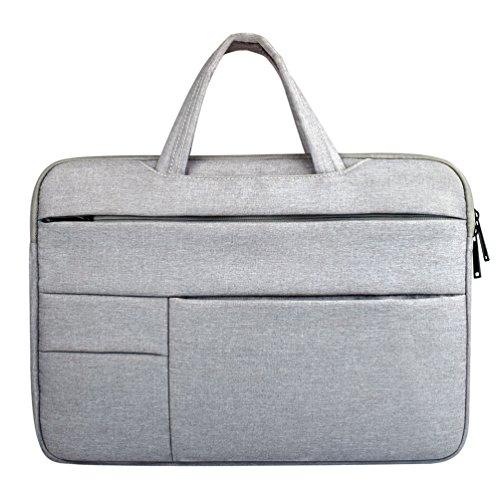 Yuncai 11.6-15.6 Zoll Multifunktional Laptop Handtasche Apple Macbook Stoßfest Notebook Schutztasche Grau 15.6Inch