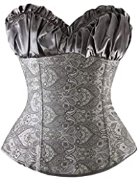 0a277191d40 Amazon.co.uk  Grey - Bustiers   Corsets   Lingerie   Underwear  Clothing