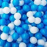 100 Stück Umweltfreundlich Bunt Blau und weiß Ball Weich Kunststoff Ozean-Kugel Komisch Baby Kinder Haustiere Schwimmbecken Spielzeug Wasser Schwimmbad Ozean Welle Ball (5.5 cm)
