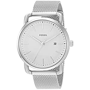 Fossil la Commuter Three-Hand Fecha Acero Inoxidable Reloj