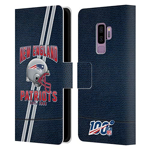 Head Case Designs Offizielle NFL Football Streifen 100ste 2019/20 New England Patriots Leder Brieftaschen Huelle kompatibel mit Samsung Galaxy S9+ / S9 Plus